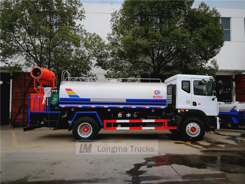 whole view of this 10 cbm anti dust truck