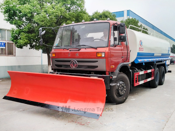 Dongfeng 14 cbm water truck with Longma 3m snow shovel