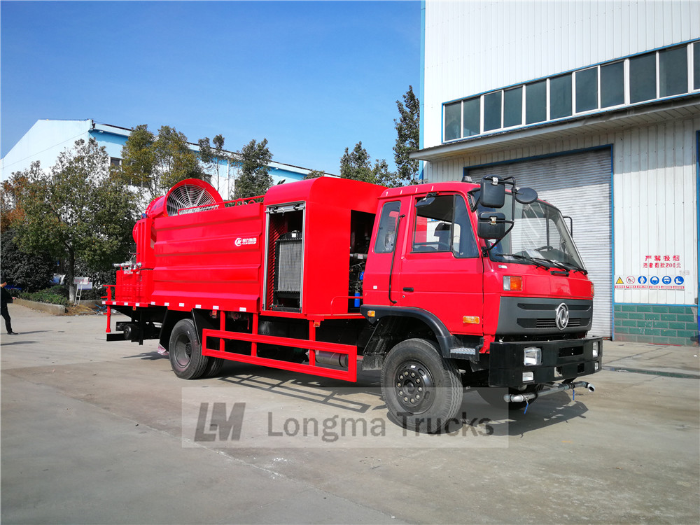 right view of dongfeng dust suppression truck