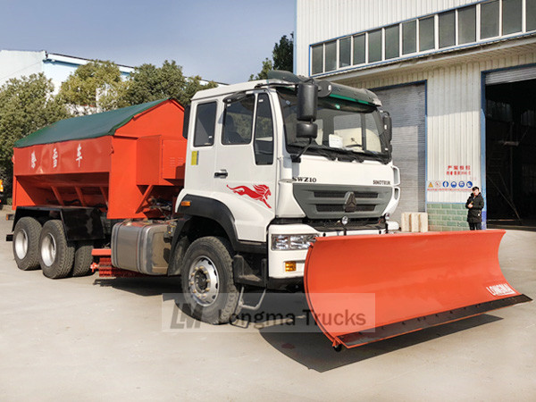 Longma 3.6m snow shovel on sinotruk