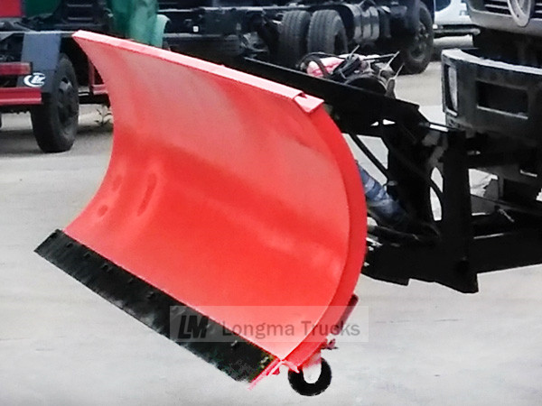snow shovel on truck