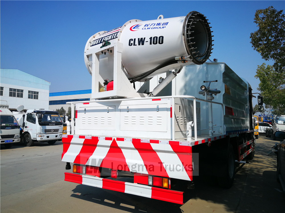 CLW 100 fog cannon on dust control truck