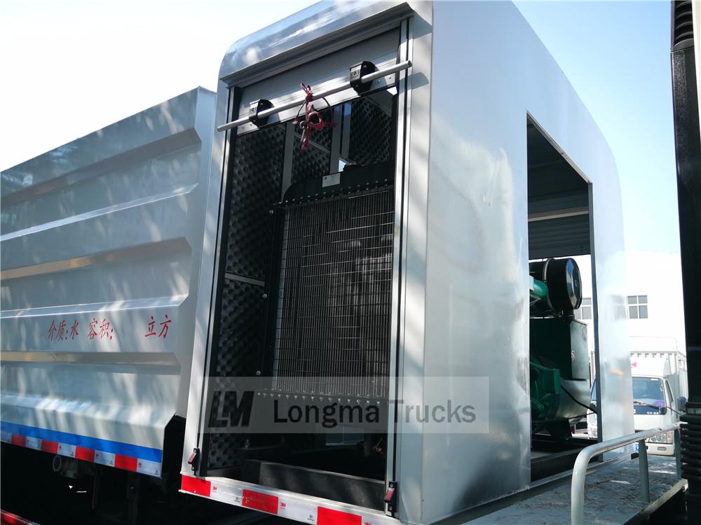 100generador diesel kw en el vehículo de control de polvo