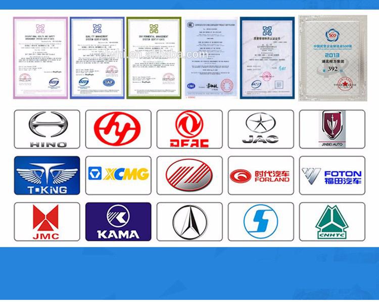 Сертификация и грузовики сотрудничества шасси марка