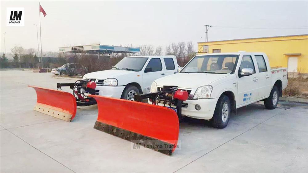 longma snow plow on pickups
