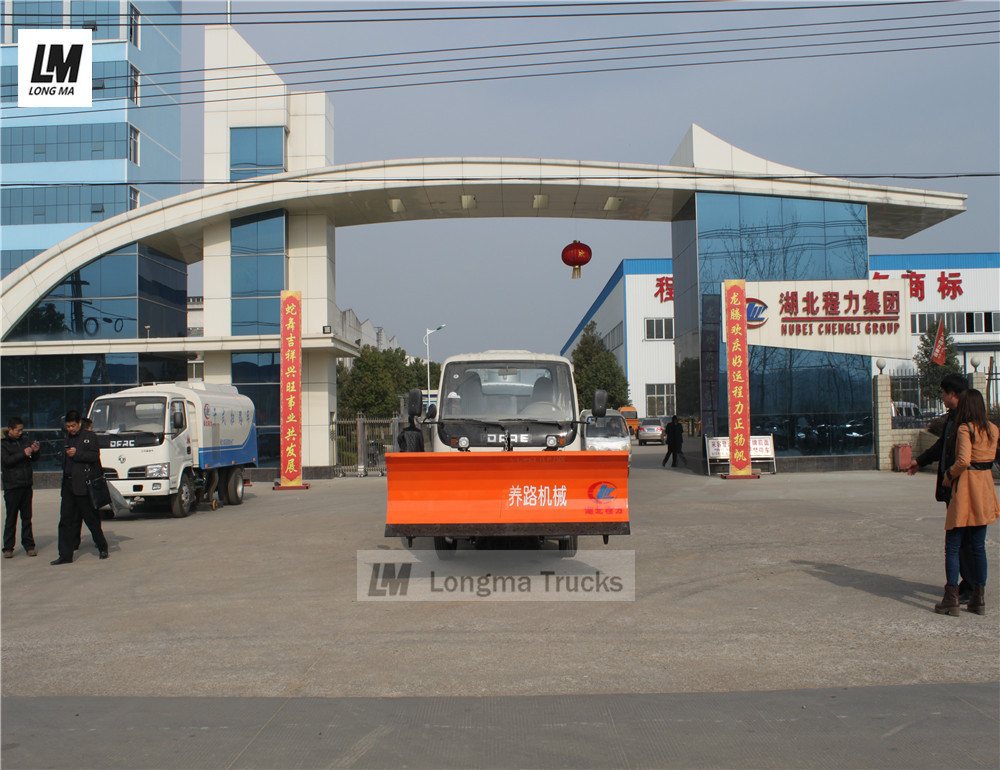 dongfeng water truck with 2m longma snow plow