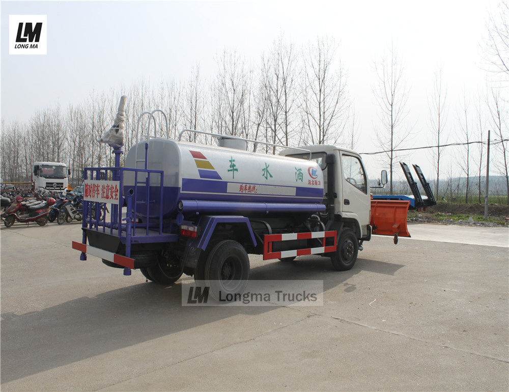 longma snow plow mounted on dongfeng water truck