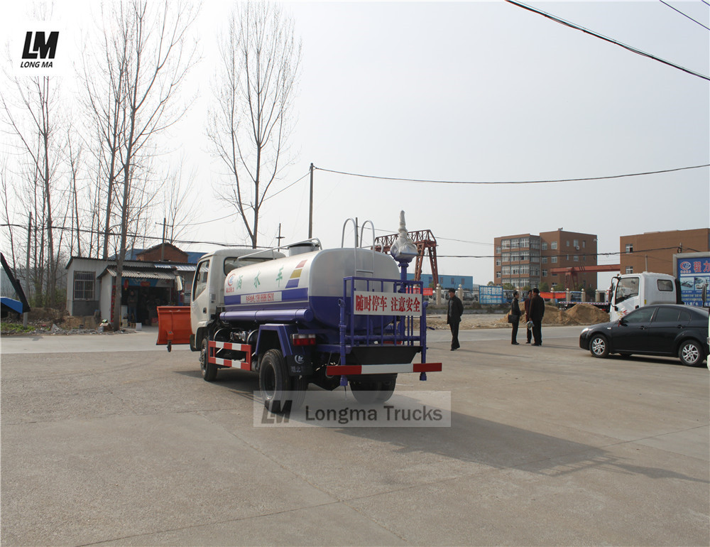 dongfeng water truck with fog gun