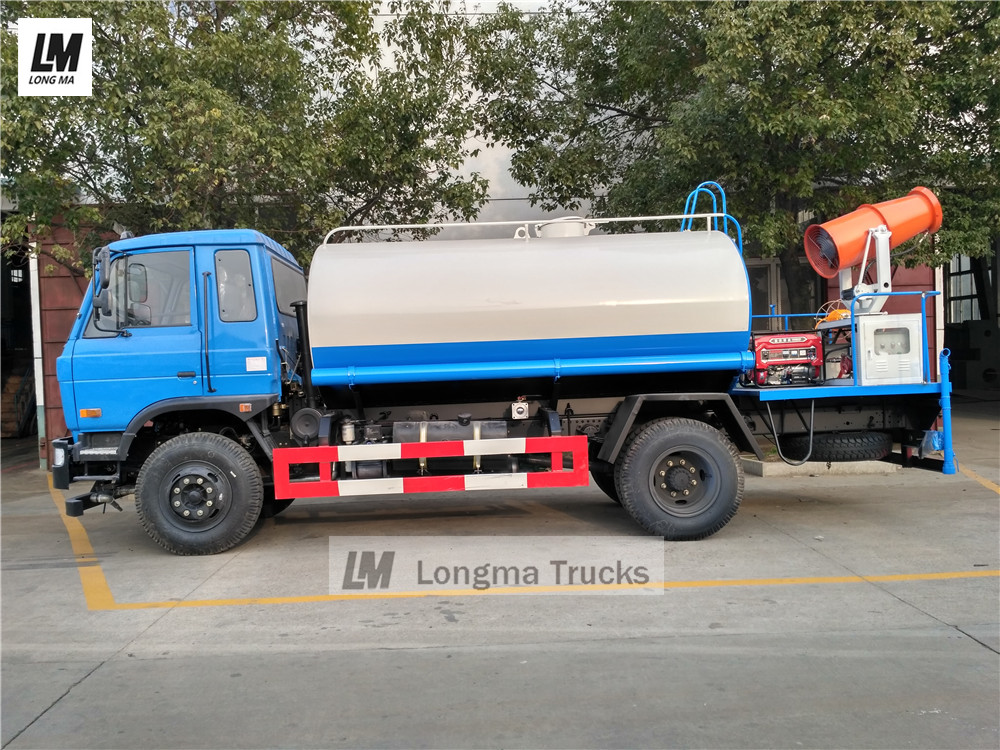 Dongfeng 145 water bowser with longma <a target='_blank' href='http://www.longmatruck.com/dust-control-equipment/fog-cannon'>fog cannon</a>