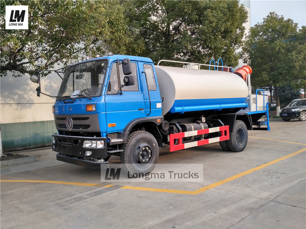 Dongfeng water bowser with longma fog cannon