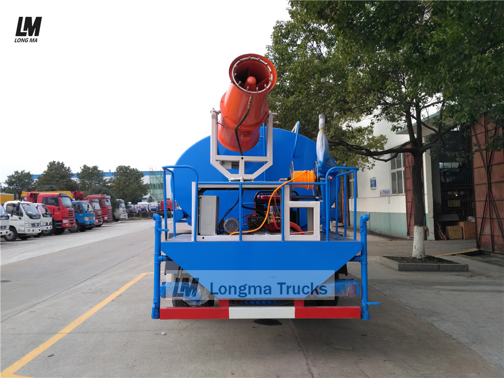 longma fog cannon equipped on water truck