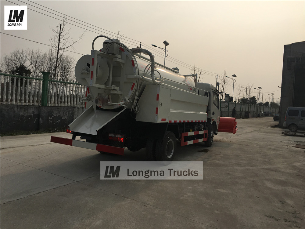 Dongfeng 5000 liters sewage suction vehicle