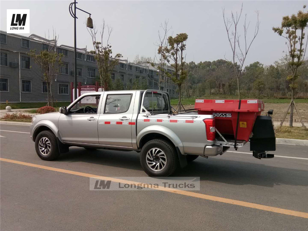 imported boss snow melting agent spreader