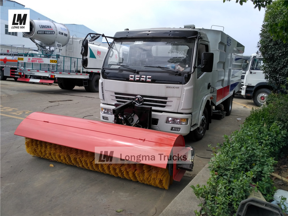 road Vacuum suction sweeper truck