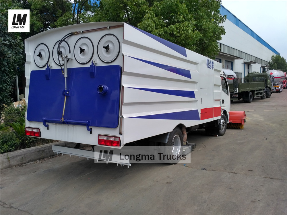 5000 liters Vacuum suction sweeper truck