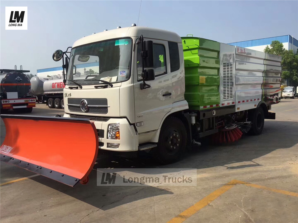 Dongfeng tianjin road sweeper with snow plow