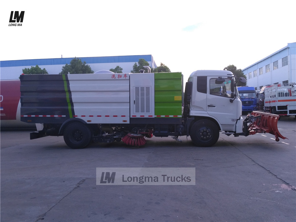chengli dongfeng road sweeper with snow plow