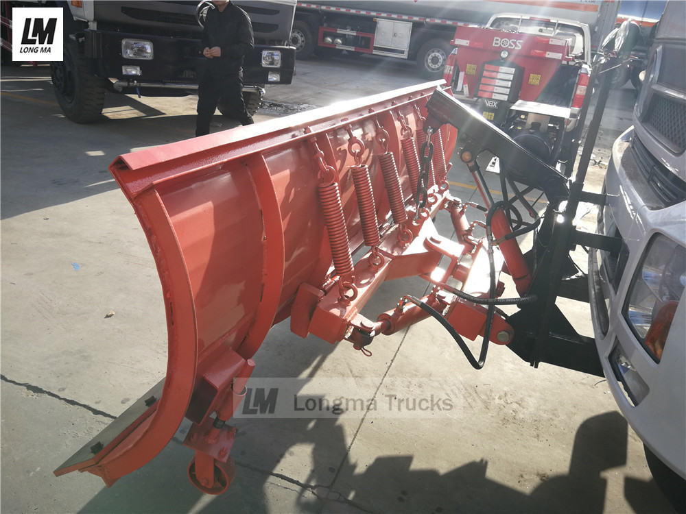 back side view of longma snow plow