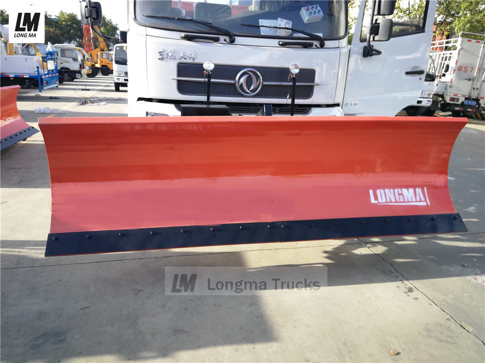 front view of snow plow on dongfeng snow removal truck