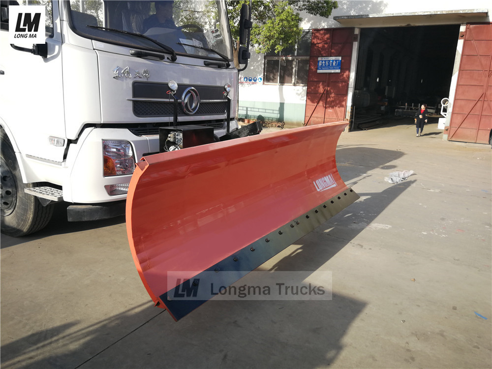 longma snow plow on dongfeng snow removal truck