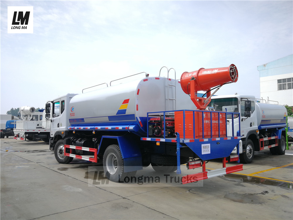 Dongfeng 12000 liters water spraying truck with fog cannon