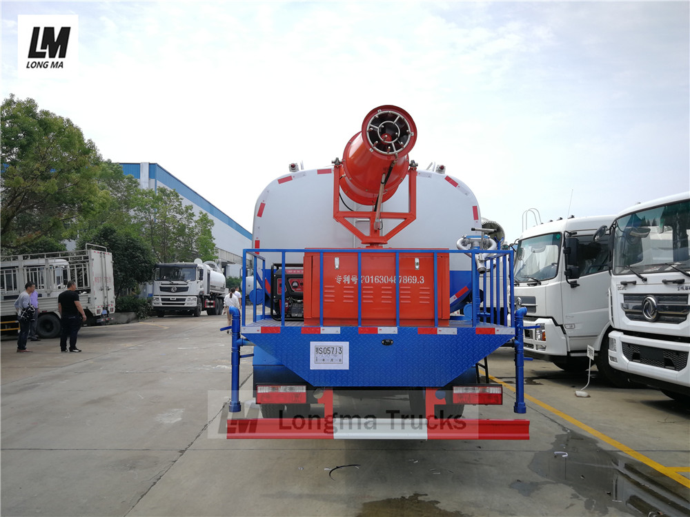 longma fog cannon mounted on Dongfeng 12000 liters water spraying truck