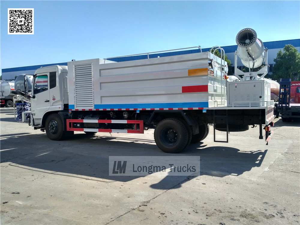 water mist spraying device on dust suppression truck