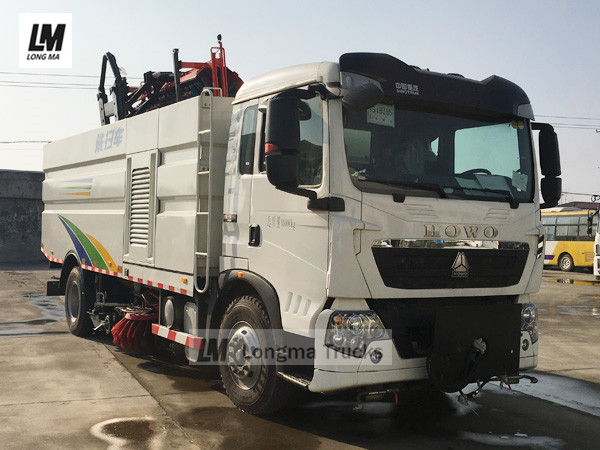 China road sweeper truck with snow broom