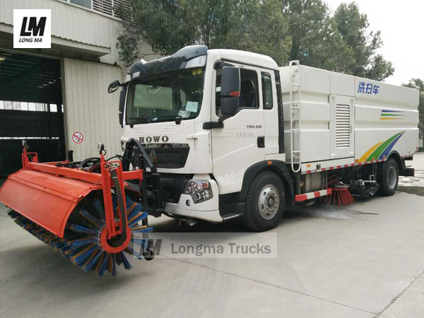 road sweeper truck monted snow broom