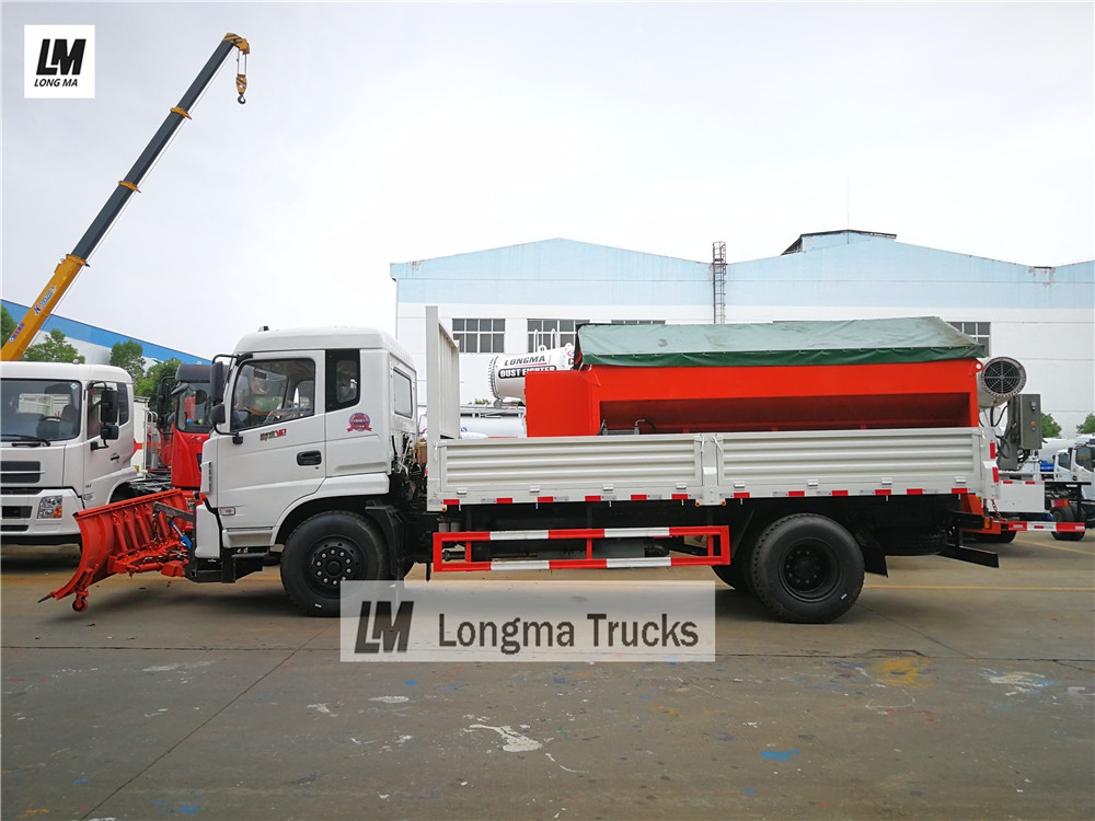Dongfeng снег удалить грузовик с Longma снегоочиститель снег щеткой снег распределителем