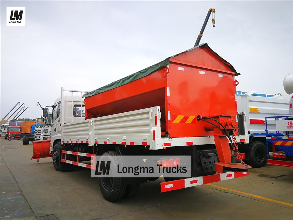 Dongfeng <a target='_blank' href='http://www.longmatruck.com/snow-removal-truck'>снег удалить грузовик</a> с 10000 л снега разбрасыватель