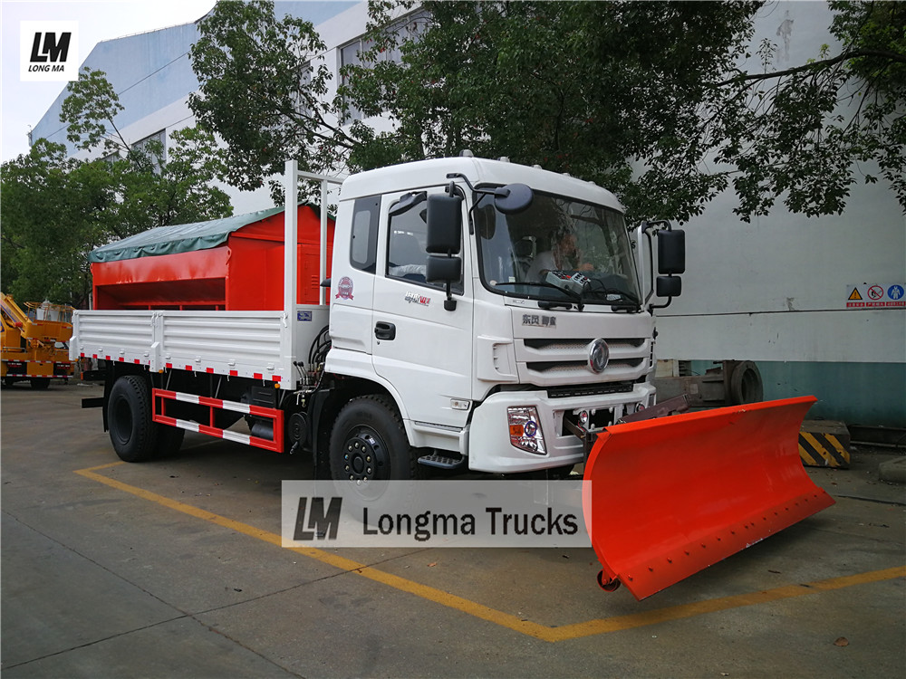 Dongfeng snow remove truck with 3 meters snow plough