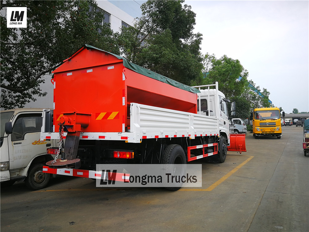 Dongfeng snow remove truck with 10000 liters snow spreader