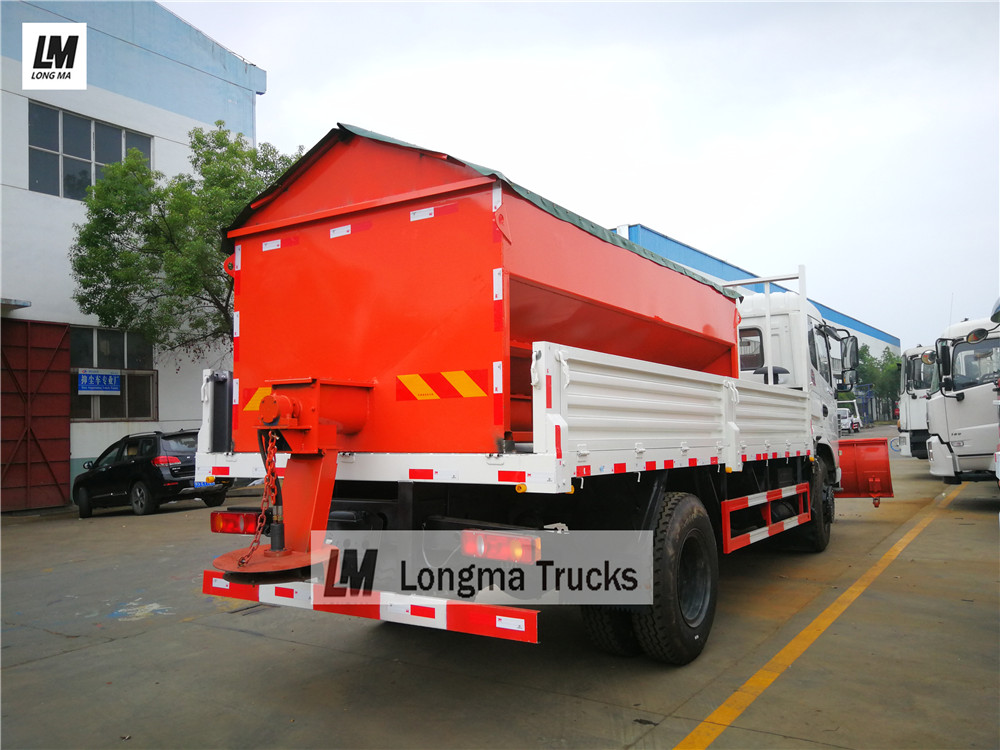 Dongfeng snow remove truck with longma snow spreader