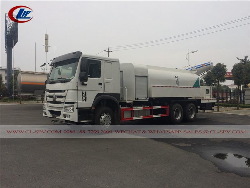 HOWO 15000 los litros camión supresión de polvo