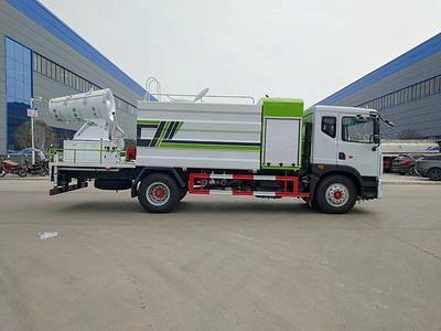 China Sexto Dongfeng 70m Camión de cañón de niebla Fabricantes 12 Imagen del precio al contado del camión de supresión de polvo de rociadores de toneladas