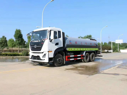 20 Ton Dongfeng Tianlonghou Double Bridge Sprinkler Fog Cannon مركبة National VI Cummins 290 HP Price Picture