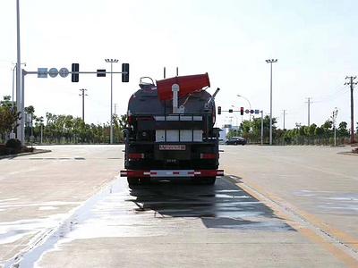 20吨东风天龙后双桥洒水车雾炮车国六康明斯290马力价格图片