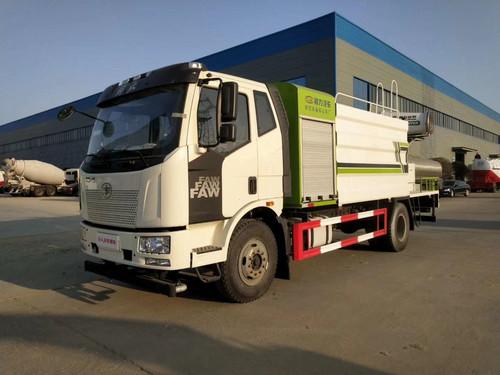 Chine Six 15 tonnes Jiefang J6 Sprinkler Fog Cannon Truck Manufacturers 80-meter Fog Cannon Prix Photo